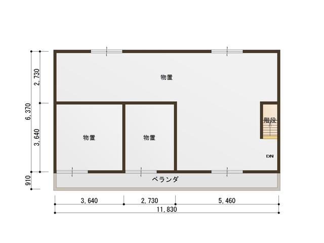 和田_田中樓2樓的平面圖