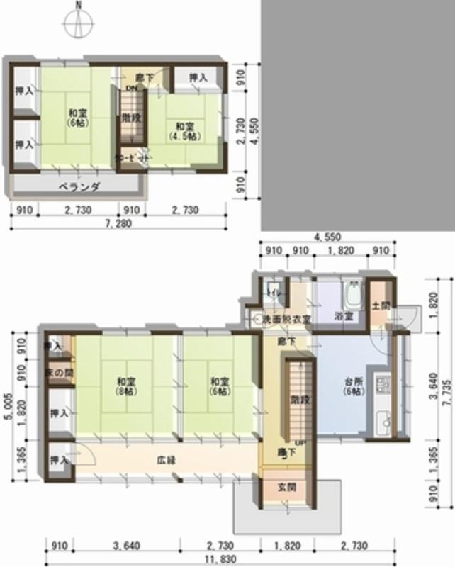 地板1 2·樓層平面圖