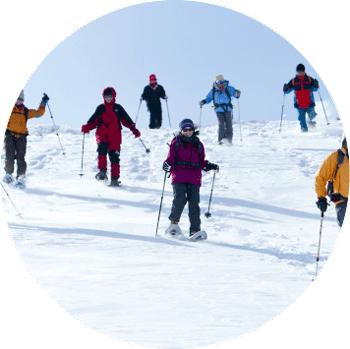 雪徒步旅行