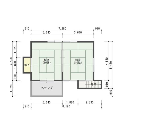 XNUMX樓平面圖(本木)